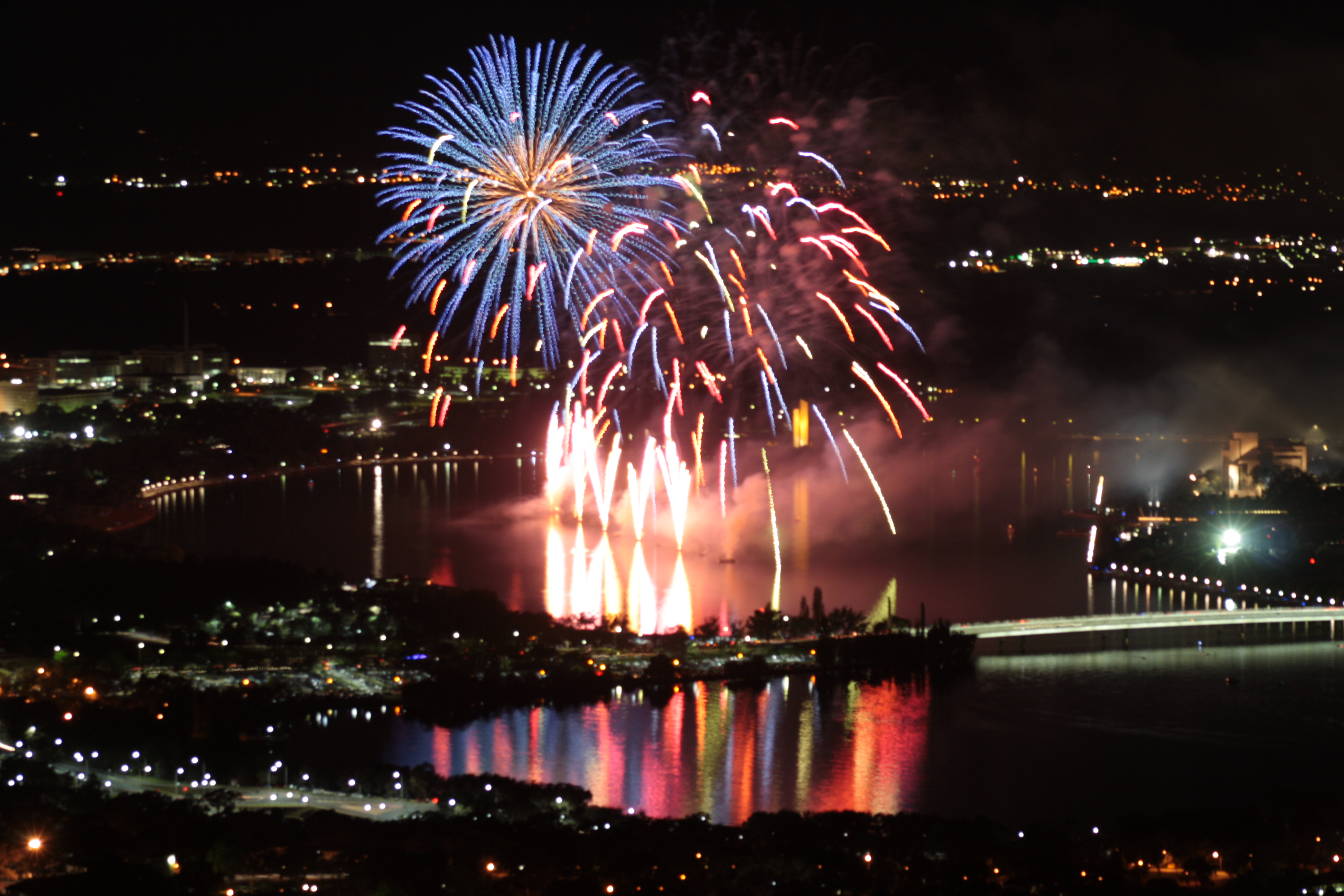 Fireworks over Canberra